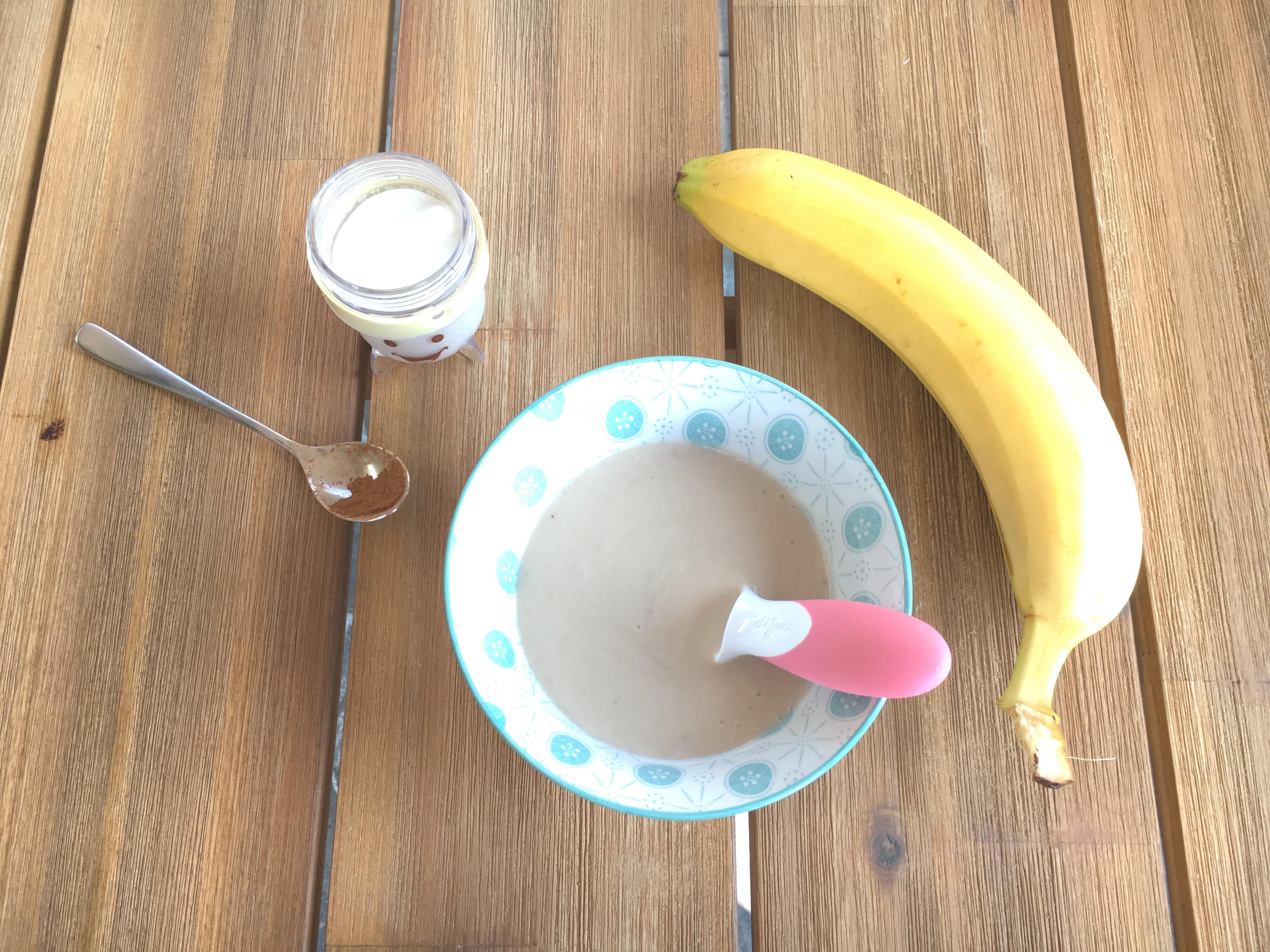 Tropische bananenpuree