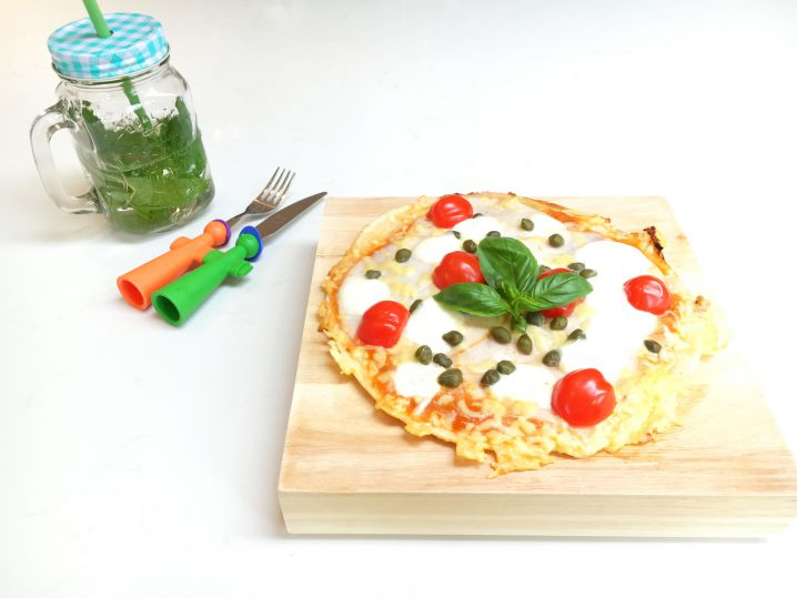 Panpizza met verborgen groenten